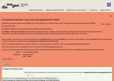 Infoabend WoGen-Haus am Hauptbahnhof Wien