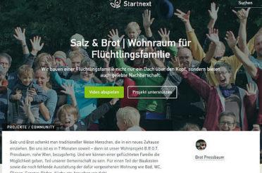 """Start der Crowdfunding-Kampagne """"Salz und Brot – Wohnraum für Flüchtlinge"""""""