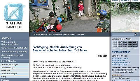 """""""Soziale Ausrichtung von Baugemeinschaften"""", Einladung zur Fachtagung in Hamburg am 22./23.09."""