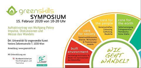 Einladung zum greenskills Nachhaltigkeits-Symposium in Wien am 15.Februar 2020