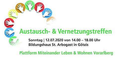 """Austausch- & Vernetzungstreffen """"Plattform Miteinander Leben & Wohnen Vorarlberg"""""""